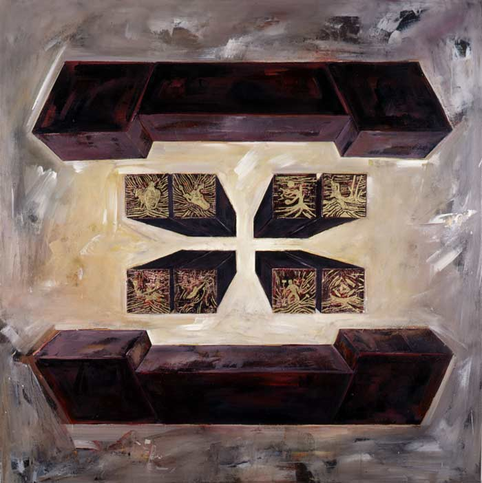 Fyrirbrigði 1988 Oil on canvas.