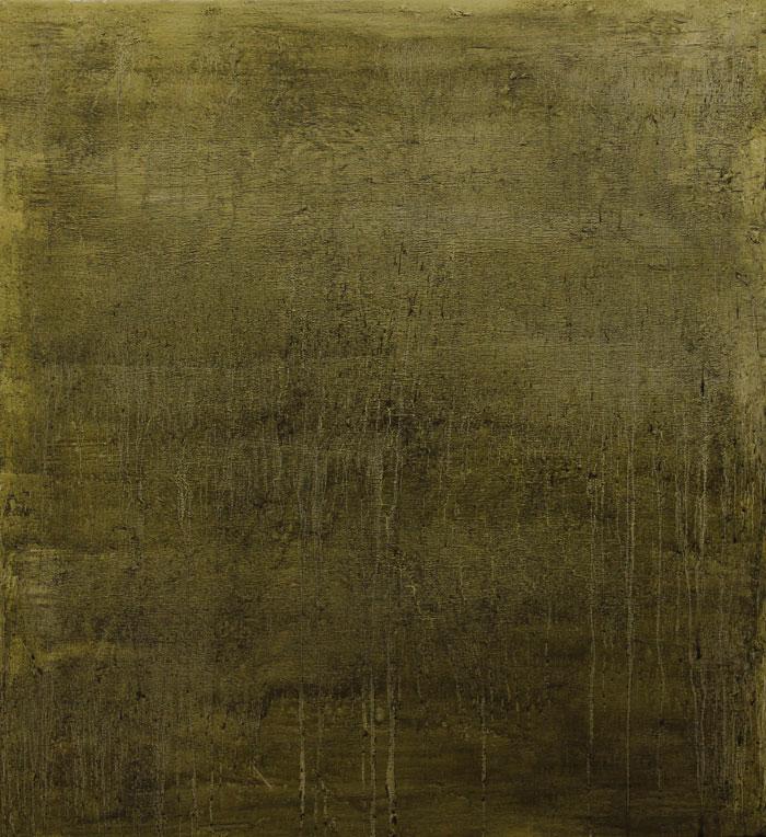 Landslag Landscape 2014 oli and soil on canvas 105x 95 cm.