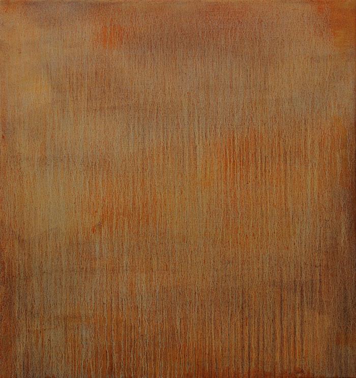 Landslag Landscape 2014 Oli and soil on canvas 80x 75 cm.